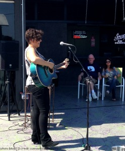 Marisela performs on the rooftop at Eden Lounge