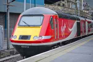 The first 125 wrapped in Virgin Trains East Coast livery, pictured at Waverley Station on Saturday, June 20. Credit: Chris Watt